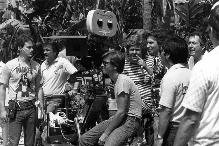 David Steinberg directing Going Berserk with John Candy