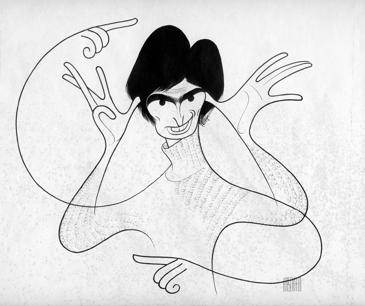 Drawing of David Steinberg by Al Hirschfeld for the cover of the comedy album Booga Booga