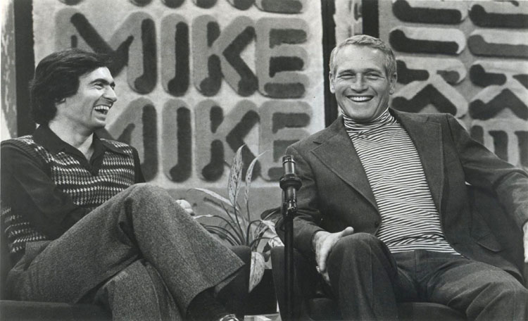 Rare guest appearance by Paul Newman on the Mike Douglas Show hosted by David Steinberg