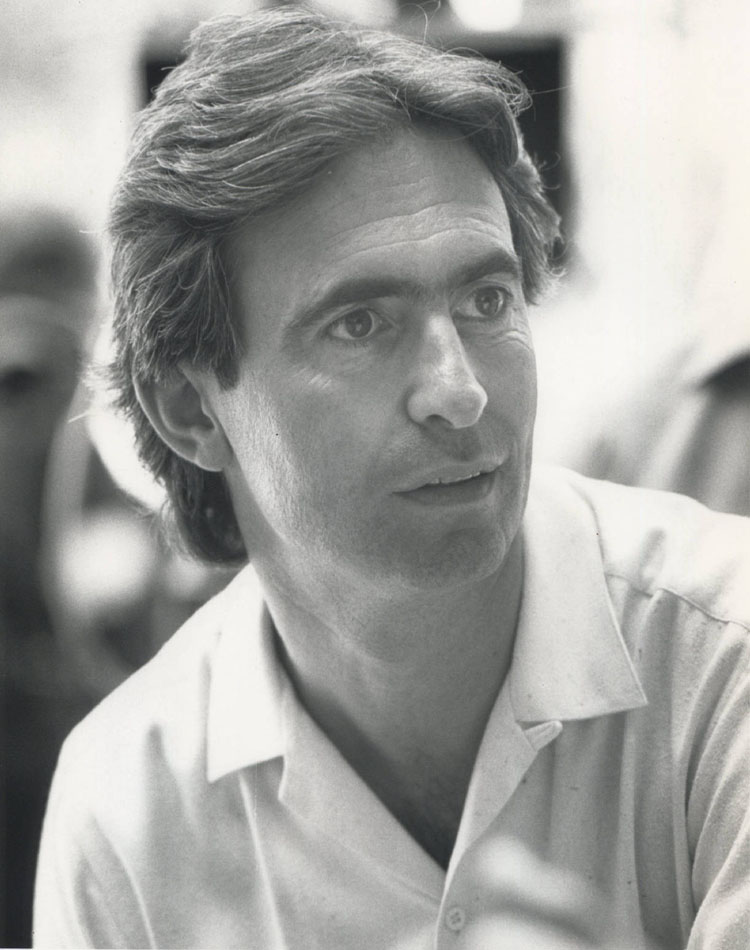 David Steinberg on the set of Going Berserk