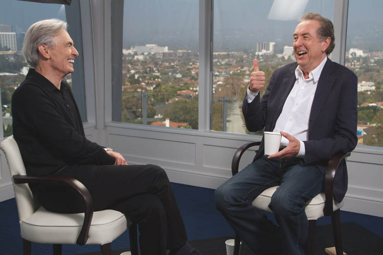 David Steinberg with Eric Idle of Monty Python fame on Showtime's Inside Comedy