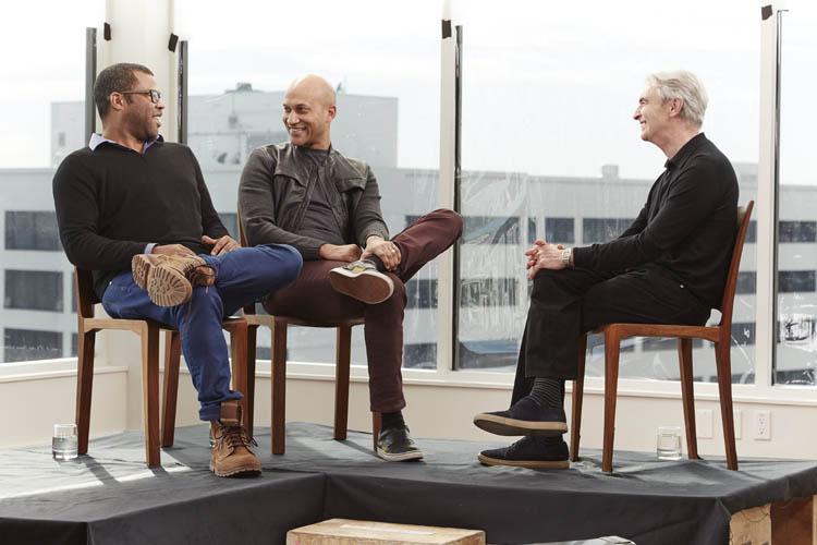 Keegan-Michael Key and Jordan Peele with David Steinberg on Inside Comedy