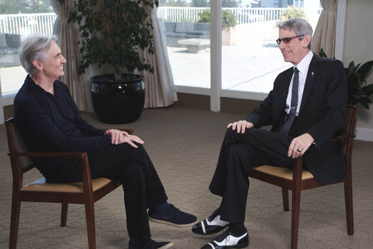 David Steinberg with Richard Belzer on Showtime's Inside Comedy