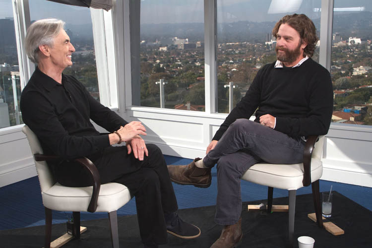 David Steinberg with Zach Galifianakis on Showtime's Inside Comedy