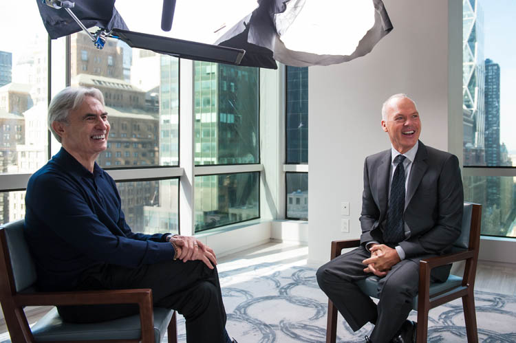 David Steinberg with Michael Keaton on Showtime's Inside Comedy