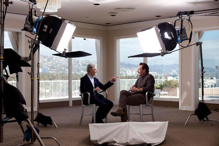David Steinberg with Bryan Cranstonon Showtime's Inside Comedy