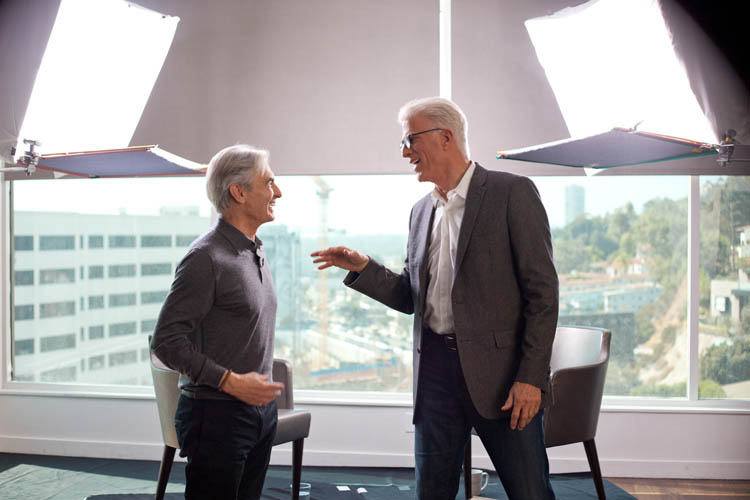 David Steinberg with Ted Danson on Showtime's Inside Comedy