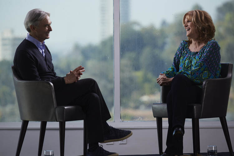 David Steinberg with Carol Leifer on Showtime's Inside Comedy