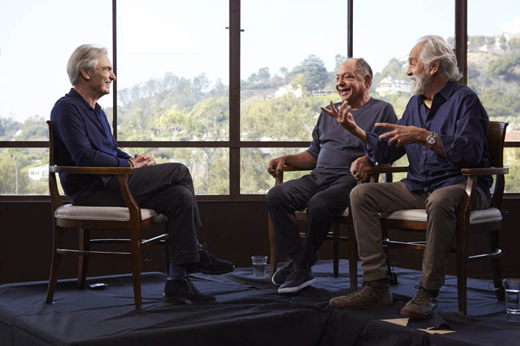 David Steinberg with Cheech & Chong on Showtime's Inside Comedy