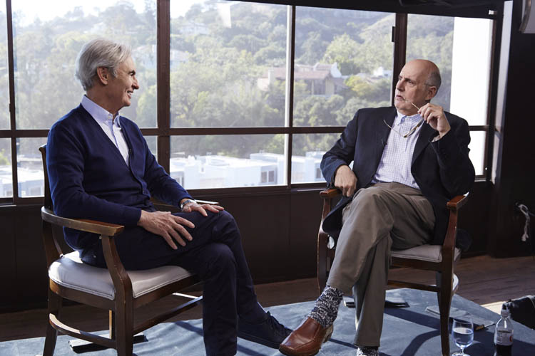 David Steinberg with Jeffery Tambor on Showtime's Inside Comedy